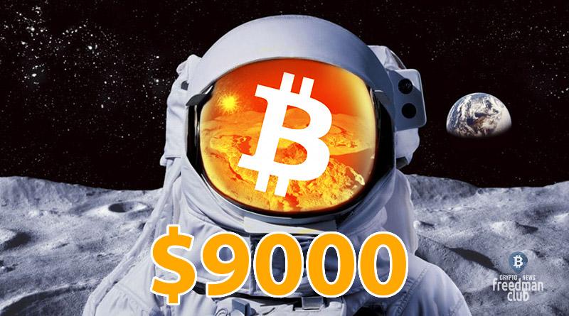 Цена Bitcoin приближается к 9 000 долларов с сильным импульсом-Freedman.club-news