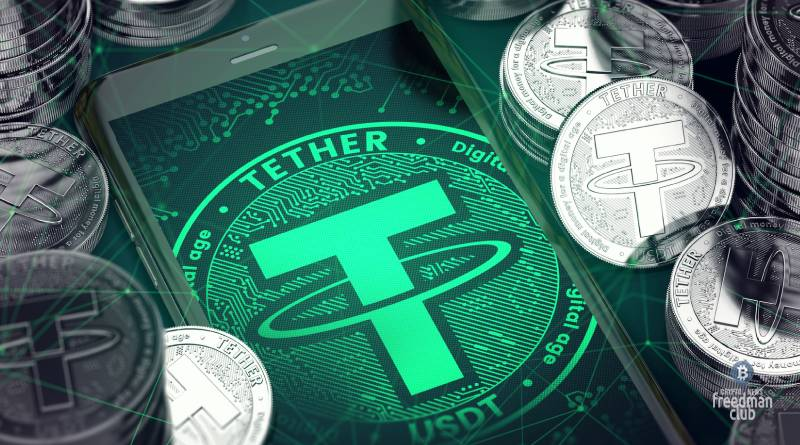 Cryptocurrency stablecoin Tether usdt