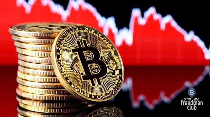 bitcoin-padaet-v-otvet-na-obrushenie-mirovyh-rynknov